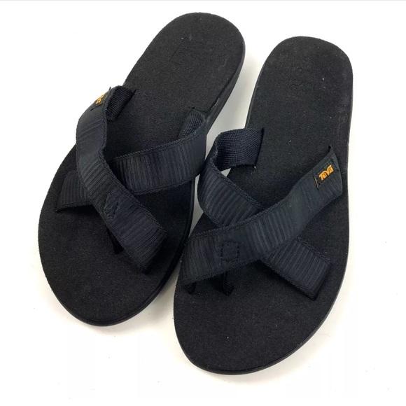 a8f9088c342b Teva Voya Kalea Flip Flops SZ 7 Sandals Black NWOB